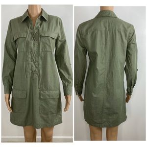 Equipment Femme army green lace up dress XS